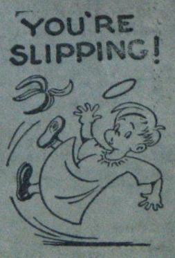 Angel Slipping on Banana Peel