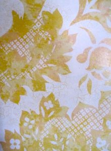 And in the foyer of the Stoudt's Brewery, YELLOW WALLPAPER! (This one's for my American Lit. Students.)