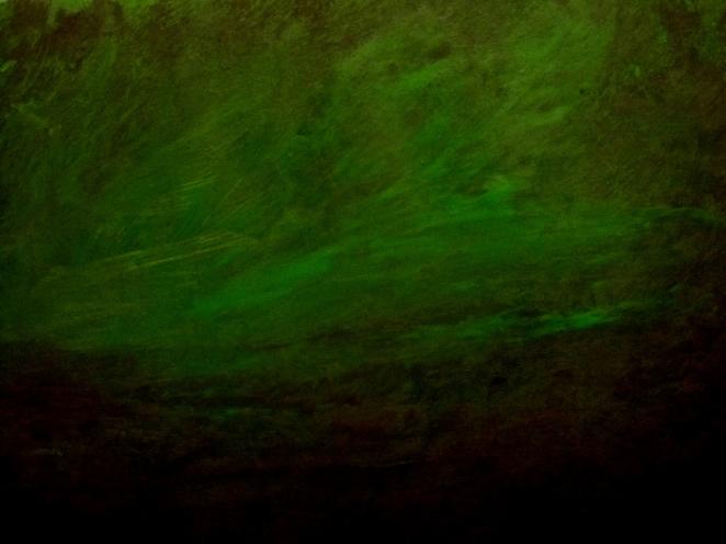 "Green Horizon 16"" x 12"" Acrylic on Paper"