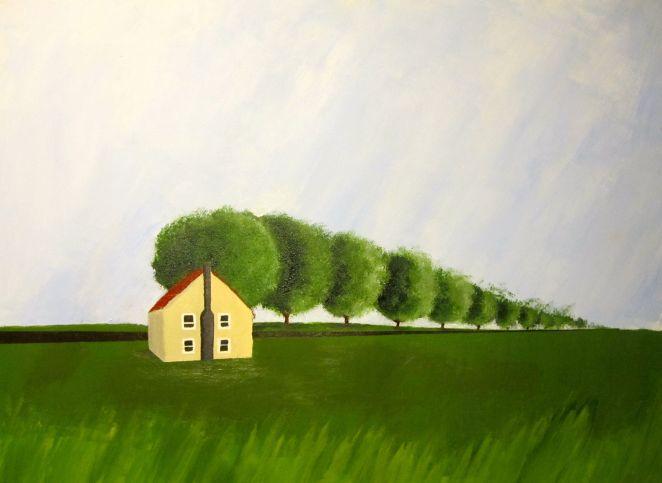 "Untitled Landscape 16""x12"" Acrylic on Paper"