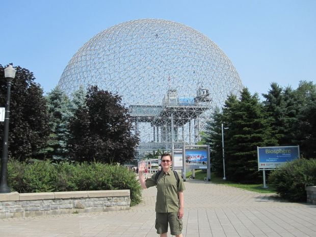 Originally designed for the 1967 World Fair Expo, the Montreal Biosphere is located on Île Sainte-Hélène, a quick subway ride from our hotel on Rue St. Denis. Curiously, two major events were taking place on the island on the same day: the Osheaga Independent Music Festival and a water sports competition. As a result, our first impression of the Biosphere was that it had to be the most popular attraction in all of Montreal. Fortunately for us, the place was mostly empty, so...