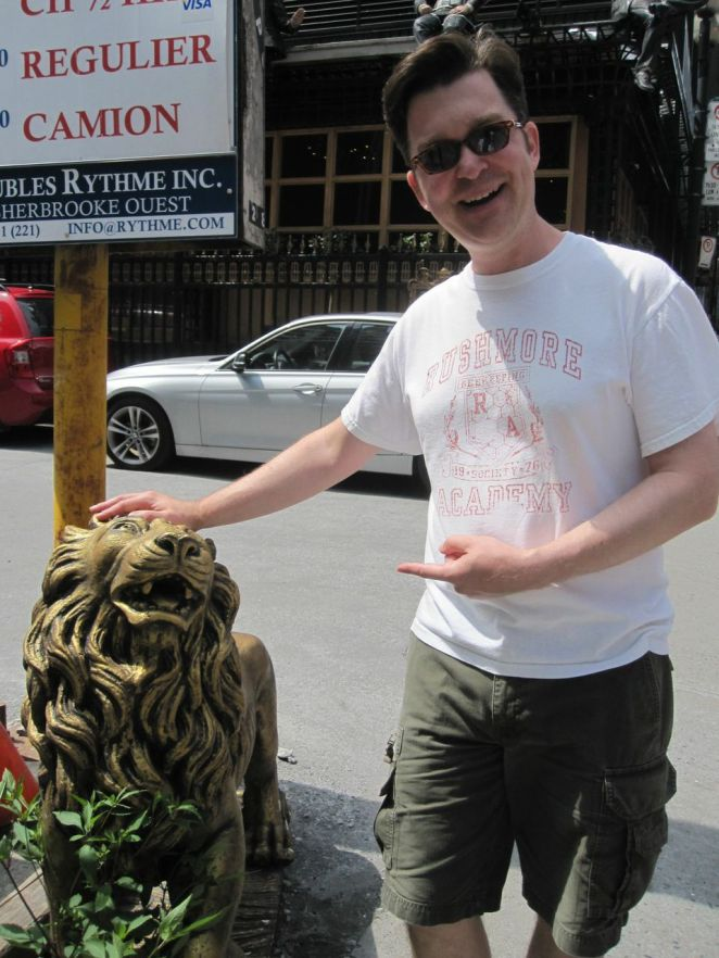 It also takes many forms, like this statue of a lion posted outside of a Chinese jazz and blues club.
