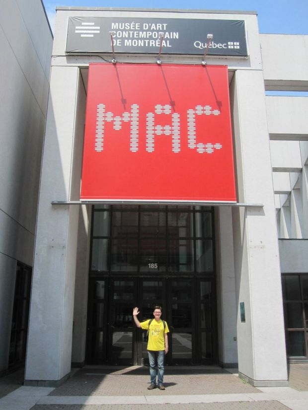 I was very excited to see this sign posted in front of the Musee D'Art Contemporain de Montreal (Montreal Museum of Contemporary Art) until my wife pointed out that there was no R between the A and the C.