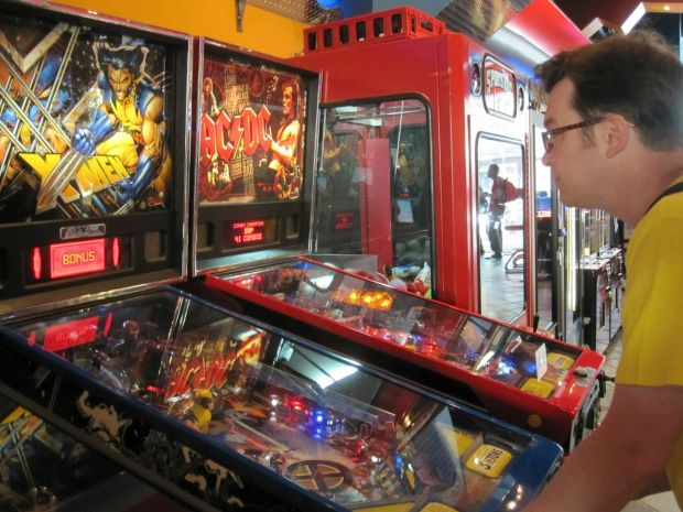 To get over my failure as a chemical firefighter, I unwound with some pinball. I played one game with a Canadian pinball wizard who knew all the ins and outs of the AC-DC pinball game, and who did his best to teach me everything he knew. As a result, I am now a junior-grade assistant pinball wizard.